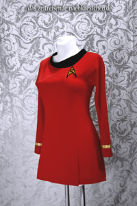 Rotes TOS-Uniformkleid
